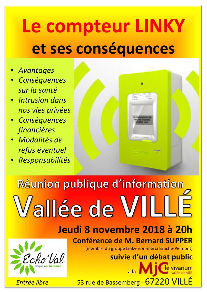 Affiche Linky Vallée de Villé