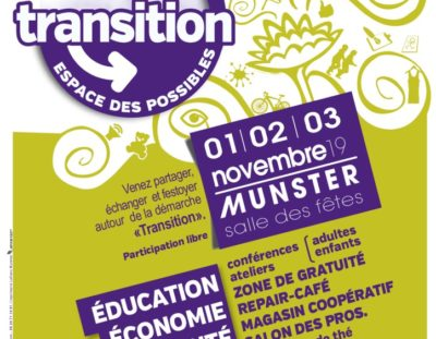 Forum de la transition à Munster – 1 2 3 novembre 2019