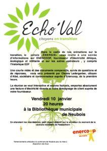 Soirée fournisseurs d'électricité alternatifs @ bibliothèque municipale de Neubois